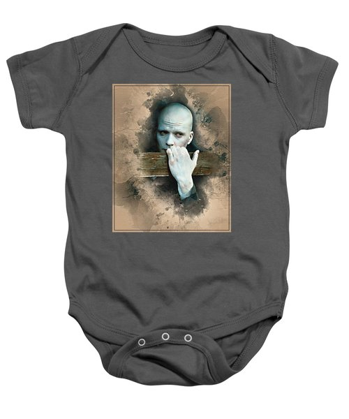 Flanery As Powder Watercolor  Baby Onesie