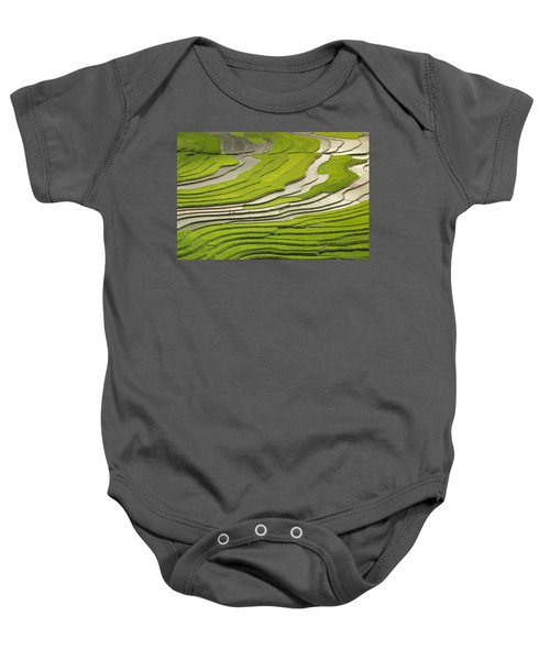 Asian Rice Field Baby Onesie