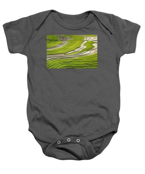 Asian Rice Field Baby Onesie