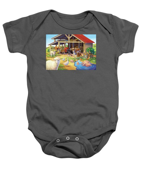 At The Farm Baby Onesie