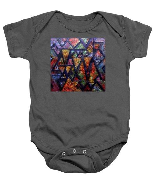 Attractive Mosaic  Baby Onesie