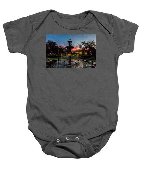 Augusta University Fountain Sunset Ga Baby Onesie