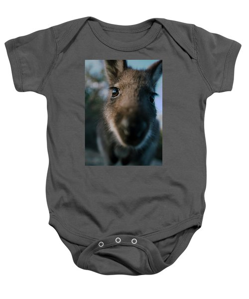 Australian Bush Wallaby Outside During The Day. Baby Onesie