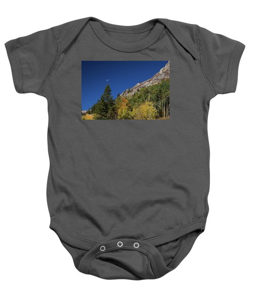 Baby Onesie featuring the photograph Autumn Bella Luna by James BO Insogna