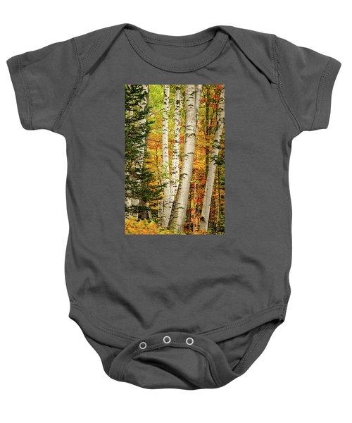 Autumn Birch Baby Onesie