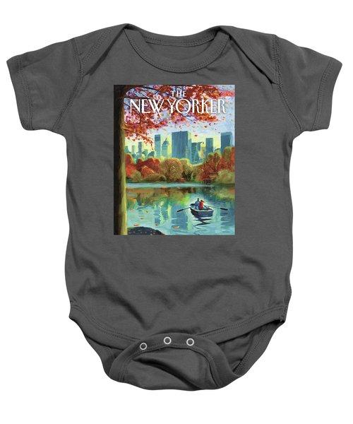 Autumn Central Park Baby Onesie
