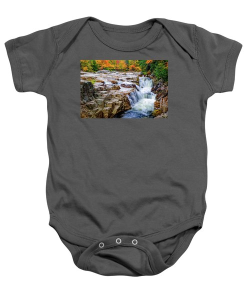 Autumn Color At Rocky Gorge Baby Onesie