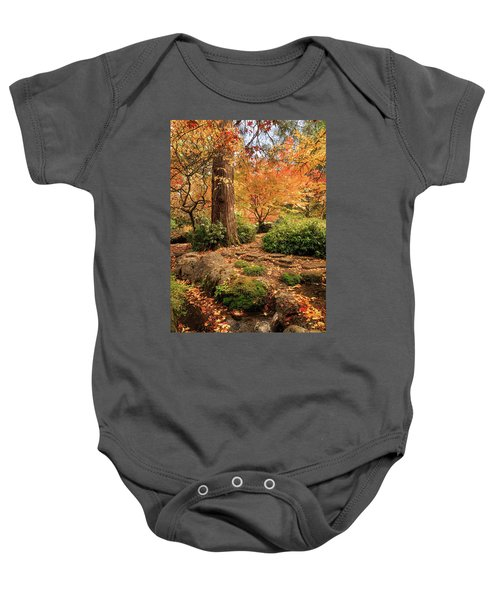 Autumn Stream In Lithia Park Baby Onesie
