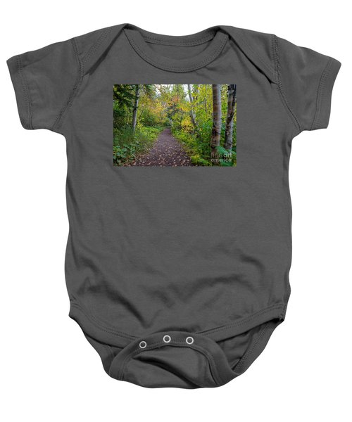 Autumn Woods Baby Onesie