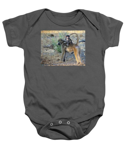 Baboon And Baby Baby Onesie