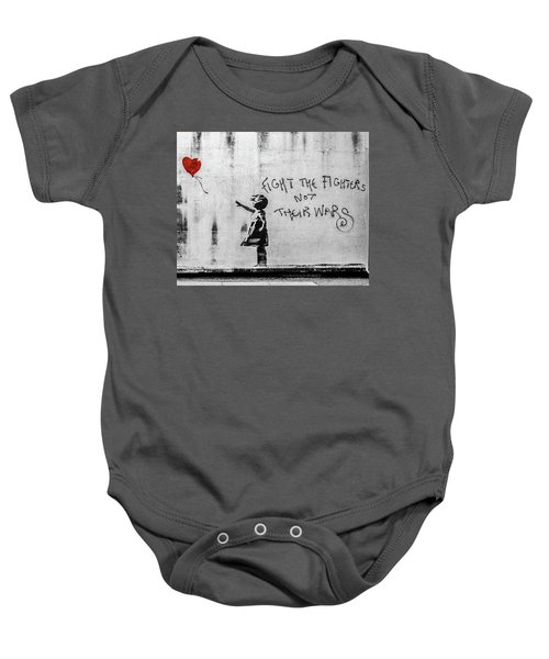 Banksy Balloon Girl Fight The Fighters Baby Onesie