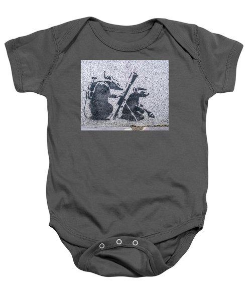 Banksy Bazooka Rats Baby Onesie