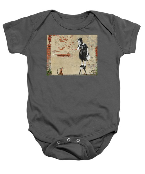Banksy New Orleans Girl And Mouse Baby Onesie