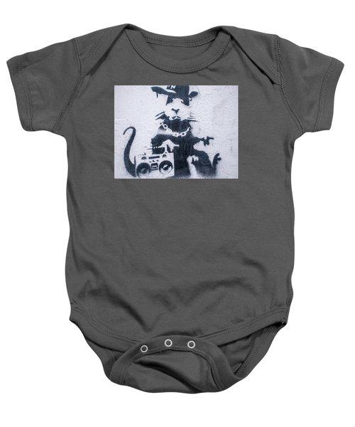 Banksy's Gansta Rat Baby Onesie