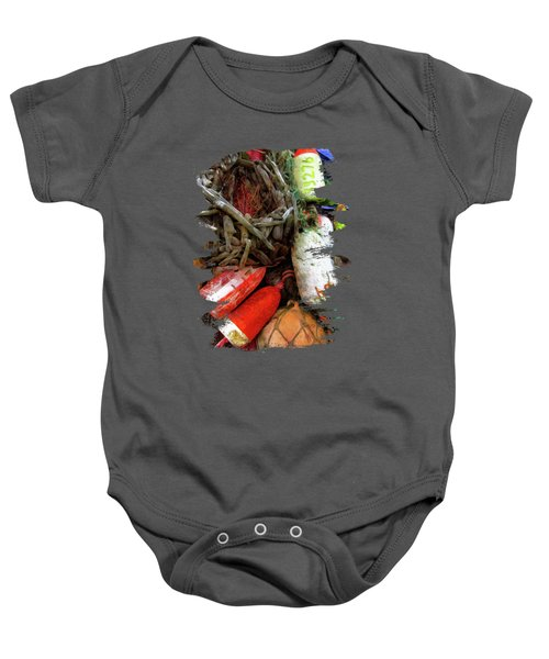 Bay Front Crab Buoys Baby Onesie