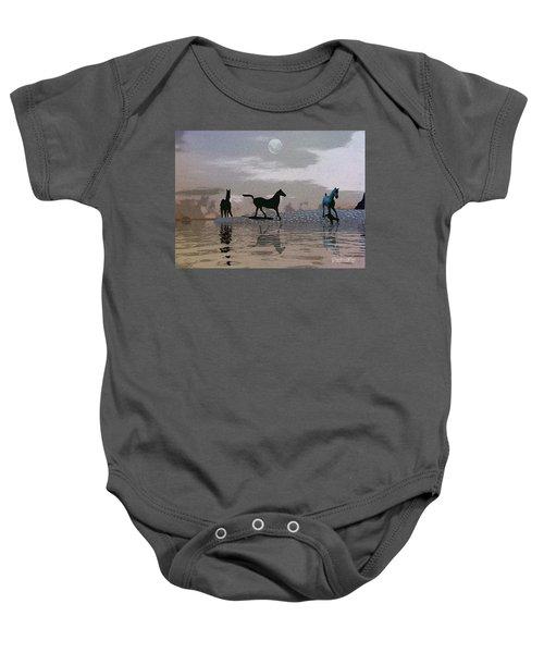 Beach Of Wild Horses Baby Onesie