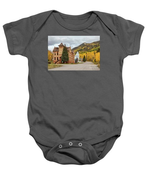 Baby Onesie featuring the photograph Beautiful Small Town Rico Colorado by James BO Insogna