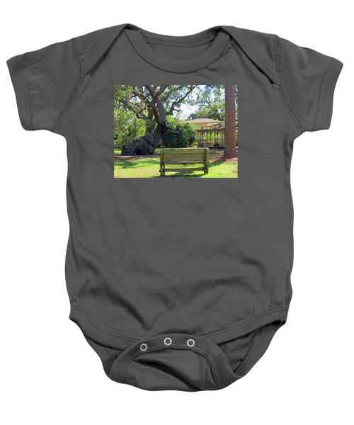Been Here Awhile Tree In Park Baby Onesie