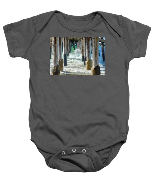 Below The Pier Baby Onesie