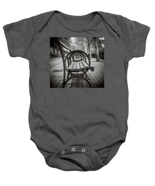 Bench Circles Baby Onesie