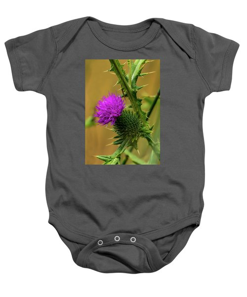 Between The Flower And The Thorn Baby Onesie
