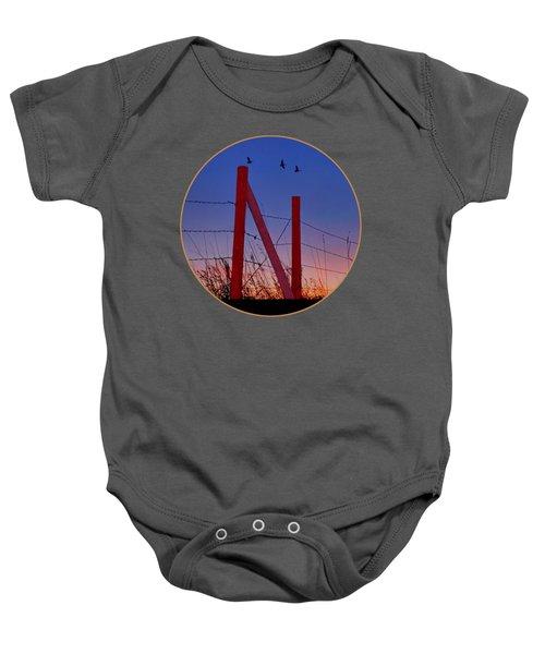 Big Red - Nebraska - Transparent Baby Onesie