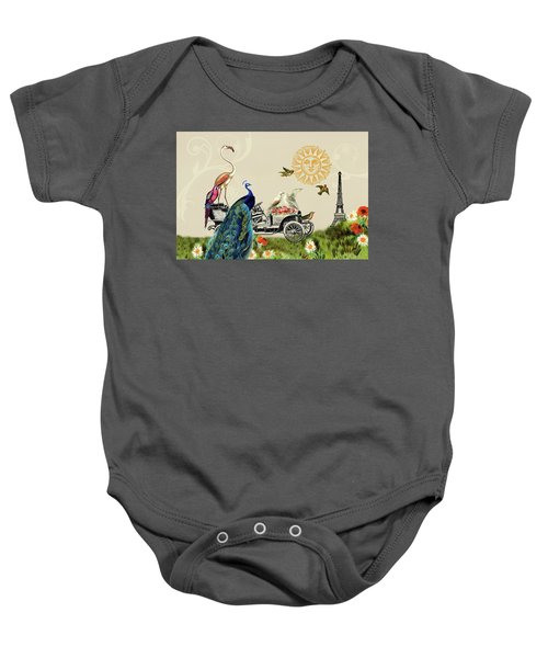 Birds Of A Feather In Paris, France Baby Onesie