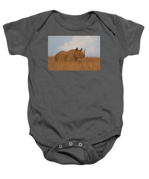 Black Rhino Baby Onesie