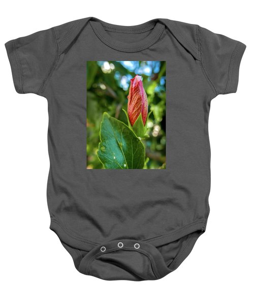 Blooming Hibiscus Baby Onesie