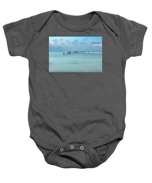 Blue Mayan Sea Baby Onesie