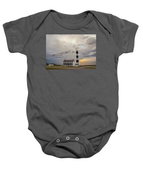 Bodie Island Lighthouse No. 2 Baby Onesie