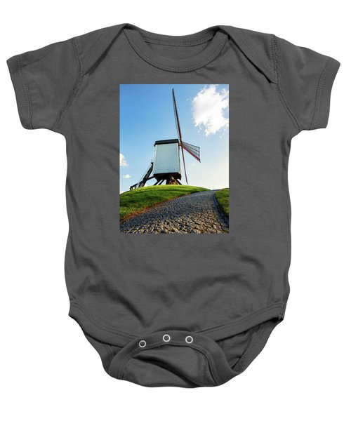 Bonne Chiere Windmill Bruges Belgium Baby Onesie