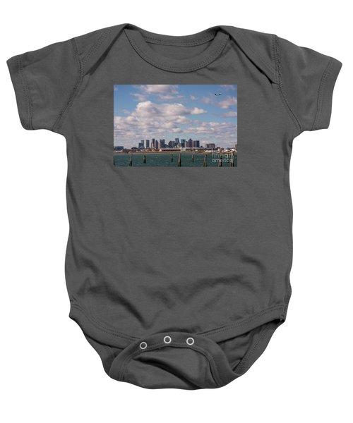 Boston Cityscape Baby Onesie