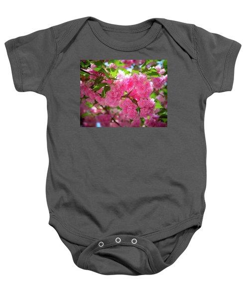 Bright Pink Blossoms Baby Onesie