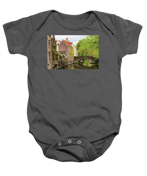 Bruges Footbridge Over Canal Baby Onesie