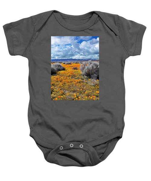 California Poppy Patch Baby Onesie