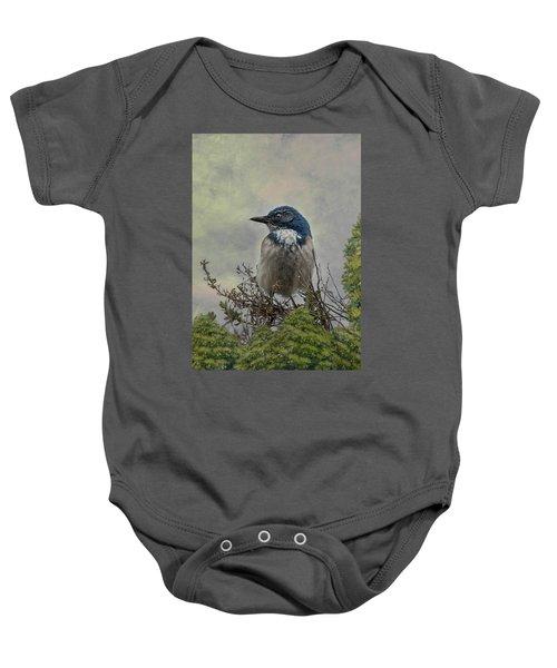California Scrub Jay - Vertical Baby Onesie