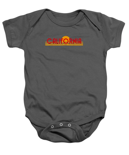 California Sunset Retro 80s License Plate Shirt Baby Onesie