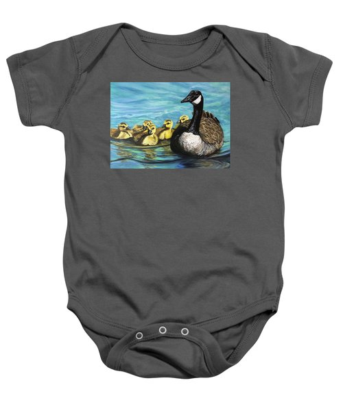 Canadian Goise And Goslings Baby Onesie