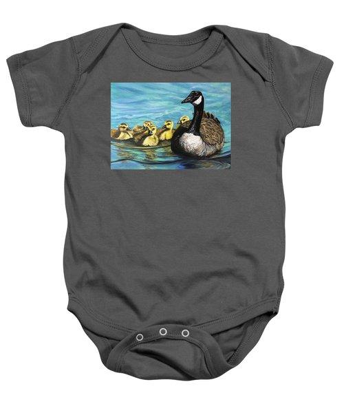 Canadian Goise And Goslings Baby Onesie