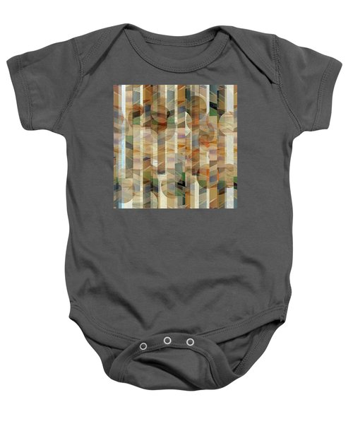 Canyon Circles And Stripes Baby Onesie