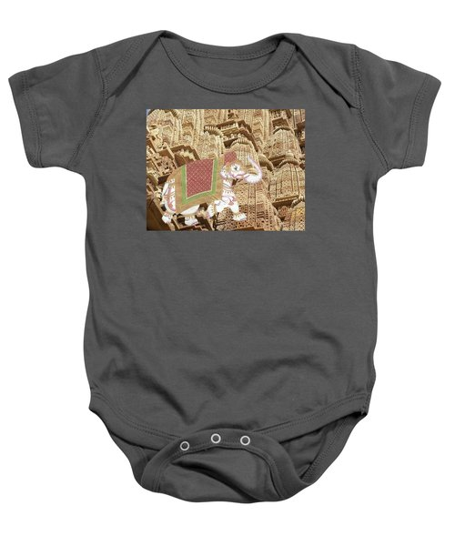 Caparisoned Elephants  Baby Onesie