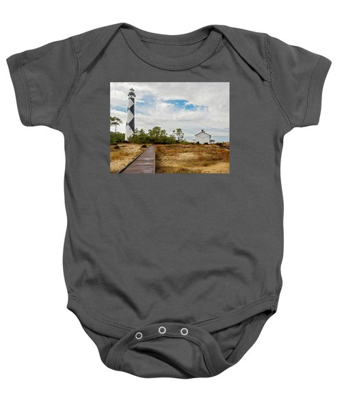 Cape Lookout Lighthouse No. 2 Baby Onesie