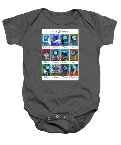 Cat Zodiac Astrological Signs Baby Onesie