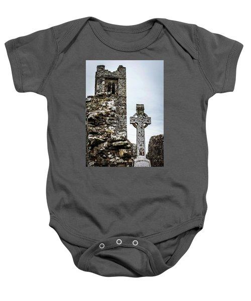 Celtic Cross At Hill Of Slane Baby Onesie