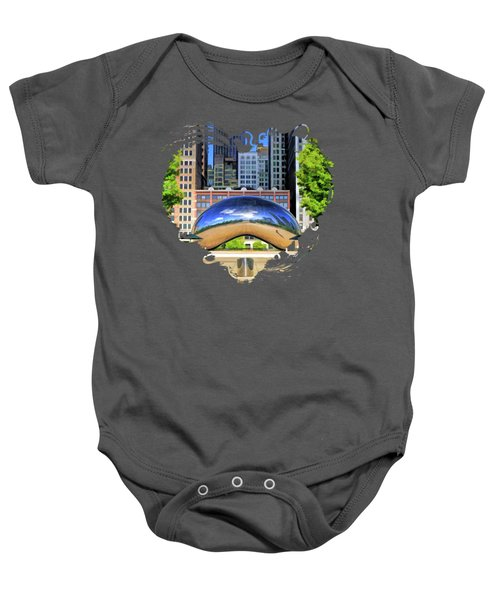 Chicago Cloud Gate Park Baby Onesie