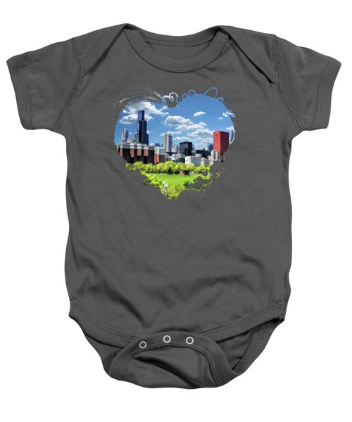 Chicago Historic Michigan Avenue Baby Onesie
