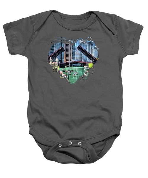 Chicago River Boat Migration Baby Onesie