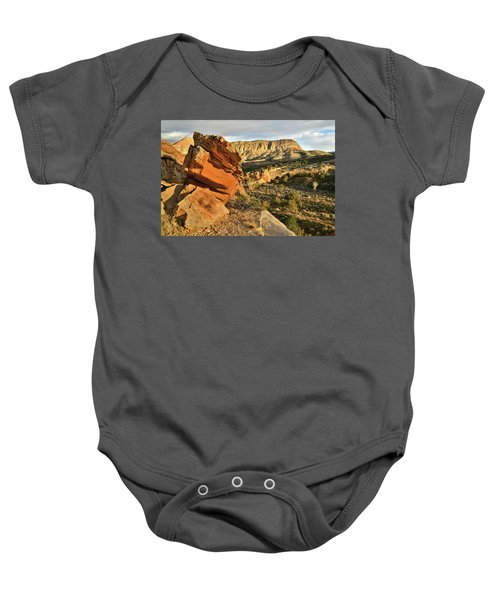 Cliffside Rock Cropping In Colorado National Monument Baby Onesie