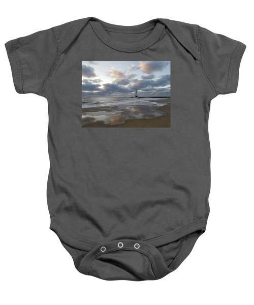 Cloud's Reflections At The Inlet Baby Onesie